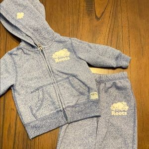 Baby roots sweatshirt and pants outfit 6-12months